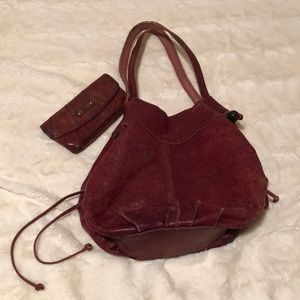 Handbags - Lucky Brand leather bag + fossil wallet